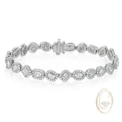 18K FANCY DIAMOND BRACELET OCA39150