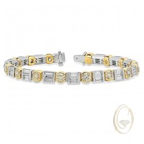 18K TWO-TONE DIAMOND BRACELET
