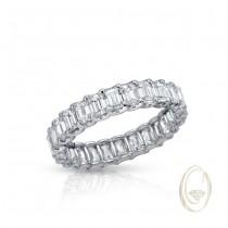 18K EMERALD-CUT DIAMOND ETERNITY RING