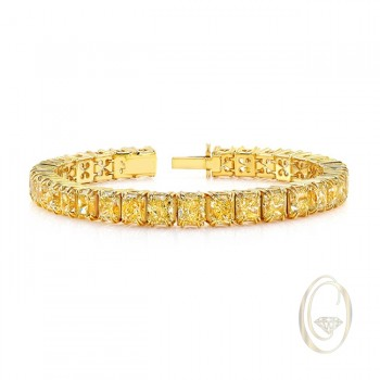 18K YELLOW DIAMOND BRACELET OCA34655
