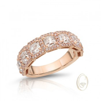 18K PINK DIAMOND RING