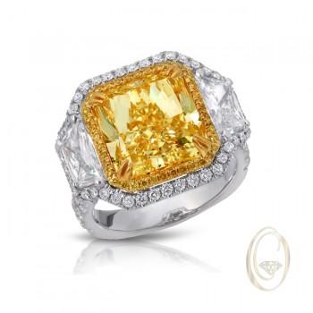 PLATINUM/18K YELLOW DIAMOND RING