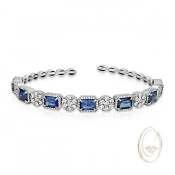 18K BLUE SAPPHIRE DIAMOND BRACELET