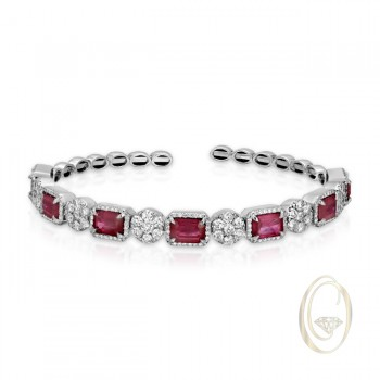 18K RUBY AND DIAMOND BRACELET