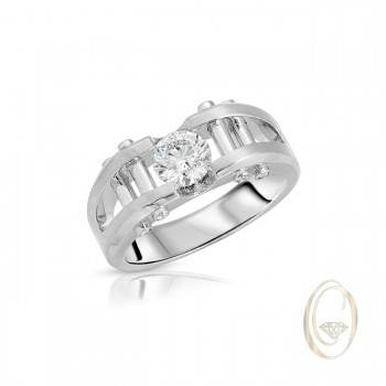 18K MEN'S DIAMOND RING